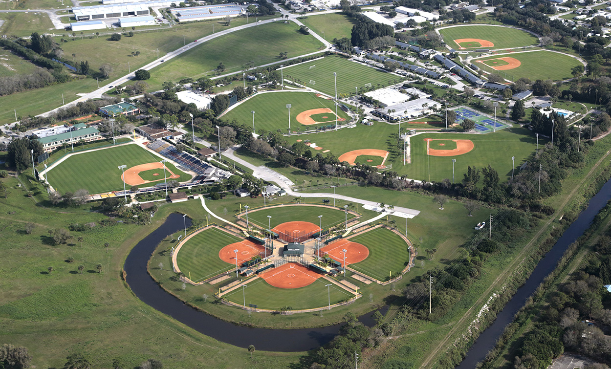 Aerial Photography of Historic Dodgertown in Vero Beach Florida
